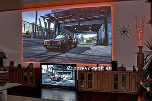 St hdv heimkinoleinwand projektionsscheiben plexiglas projektionsleinwand - Couchscreen leinwand ...