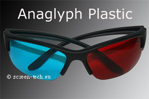 ST-3D anaglyphen eye glasses, acrylic