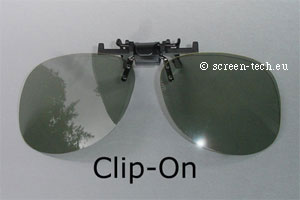 ST-3D polarizing eye glasses, CLIP-ON, linear or circular