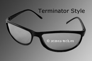 ST-3D polarizing eye glasses, Terminator Style, linear