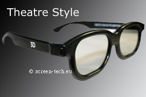 ST-3D polarizing eye glasses, Theatre Style, linear or circular (RealD)
