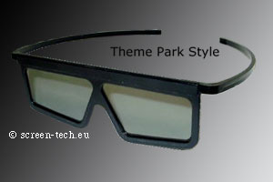 ST-3D polarizing eye glasses, Theme Park Style, linear