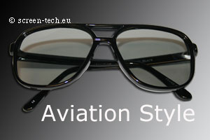 ST-3D polarizing eye glasses, Aviation Style, linear or circular