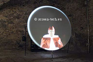 circular projection screen