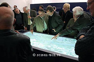touch table projection screen