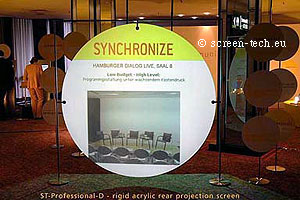 round projection screen