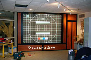 back projector screen plexiglass