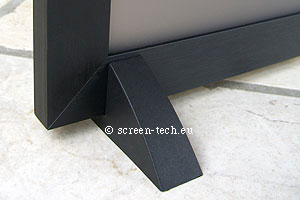black rear projector screen