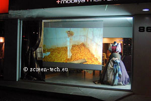passive 3D rear projection film, adhesive