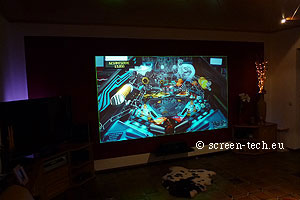 home theatre 3d projection screen