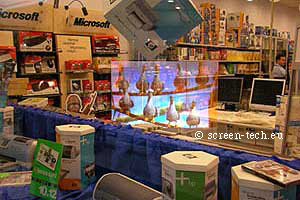 Holographic projection screen plexiglass