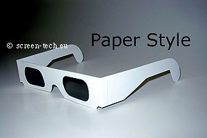 3D polarizer glasses, paper, cardboard, linear, circular, anaglyph