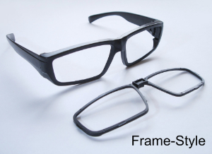 eye glass frame to use with own filters